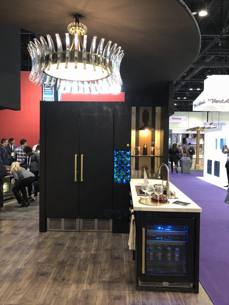 KBIS Perlick Kitchen Appliance Design Trends Brass Black White Currey and Company Crossville Zephyr