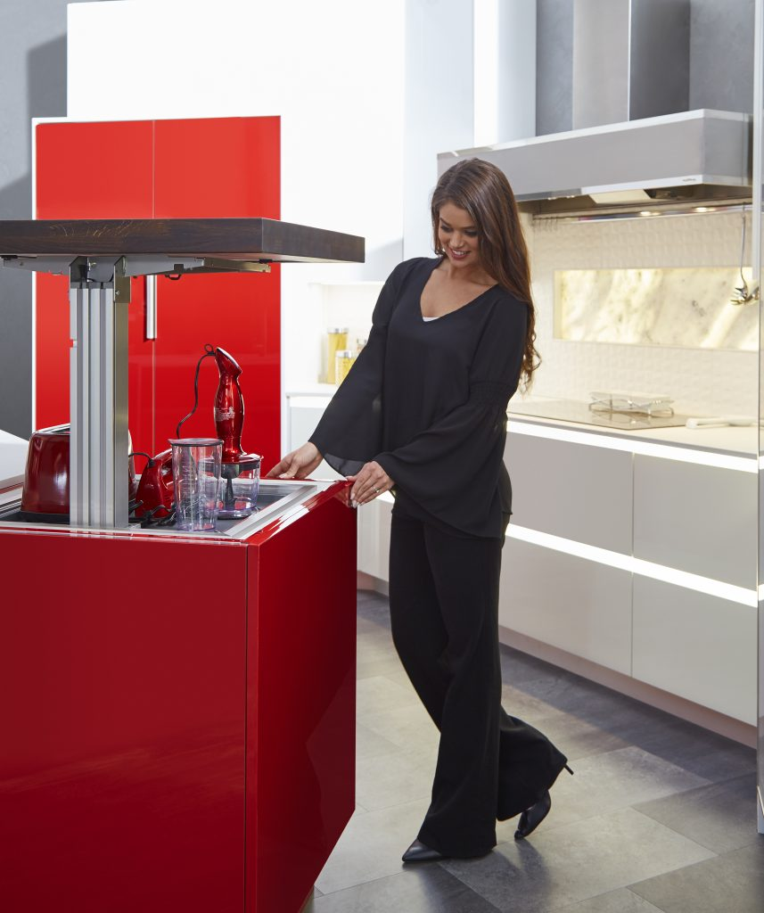 Wellborn Cabinet Island With Lift For Appliance Storage