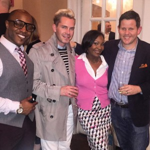 Corey Damien, Peter Jacob and Zach Taylor at the Architectural Digest Party