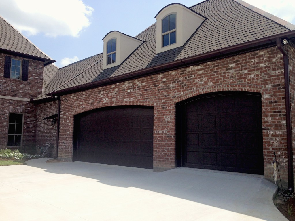 768 #3C4860 Chose A Dark Chocolate Color For The Trim And Garage Doors Which  pic Dark Brown Garage Doors 37611024