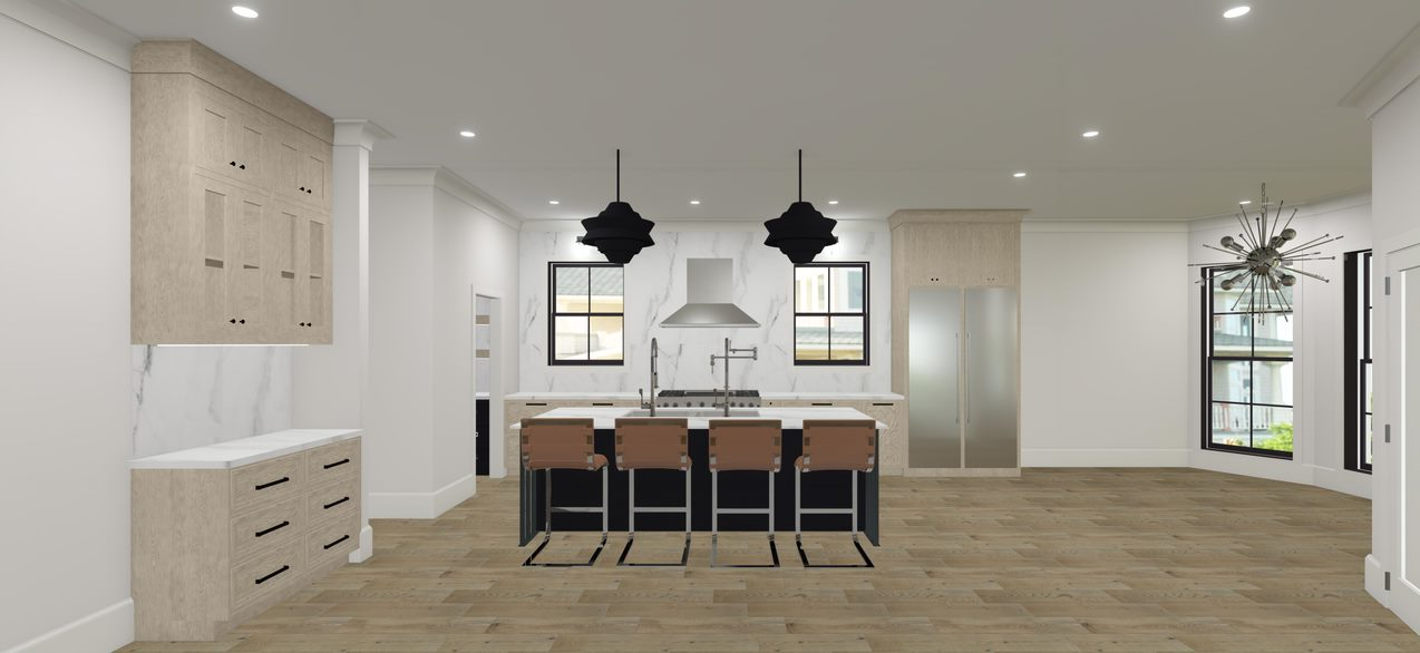 Showhouse Kitchen Rendering Designed